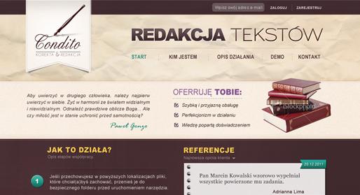 Condito - redakcja i korekta tekstów