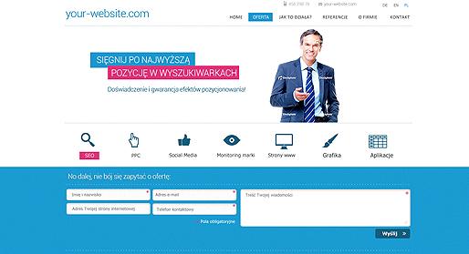 Your-Website - projekt strony agencji interaktywnej