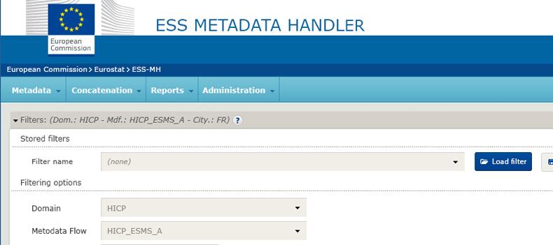ESS Metadata Handler - projekt interfejsu